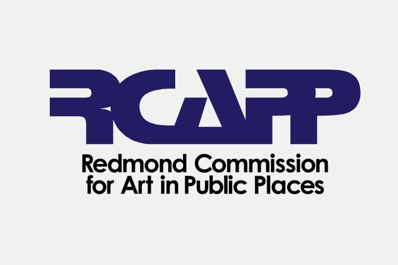 Logo design for the Redmond Commission for Art in Public Places (City of Redmond, Oregon) – by Kaseberg Design.