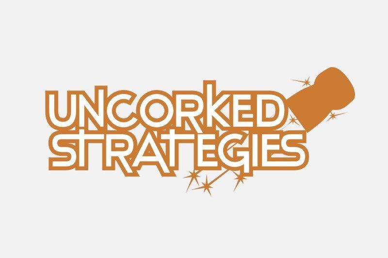 Logo design for Uncorked Strategies – by Kaseberg Design.