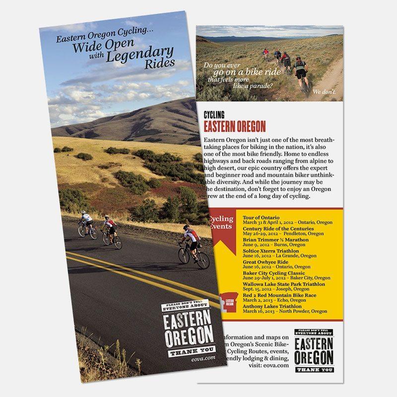 Print: Rack card for Eastern Oregon Visitor's Association