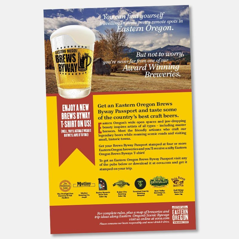 Print: Poster for Eastern Oregon Visitor's Association and Brews Byway.
