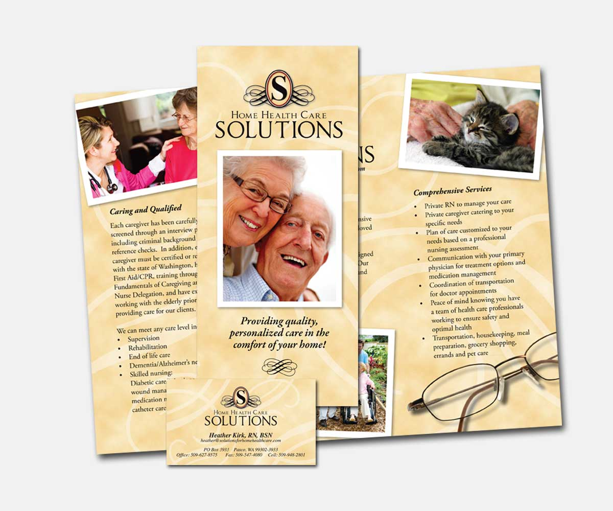 Print: Broshure and business card for Home Health Care Solutions by Cameron Kaseberg