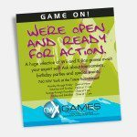 Print: Game On advertisement for NWX Games by Cameron Kaseberg