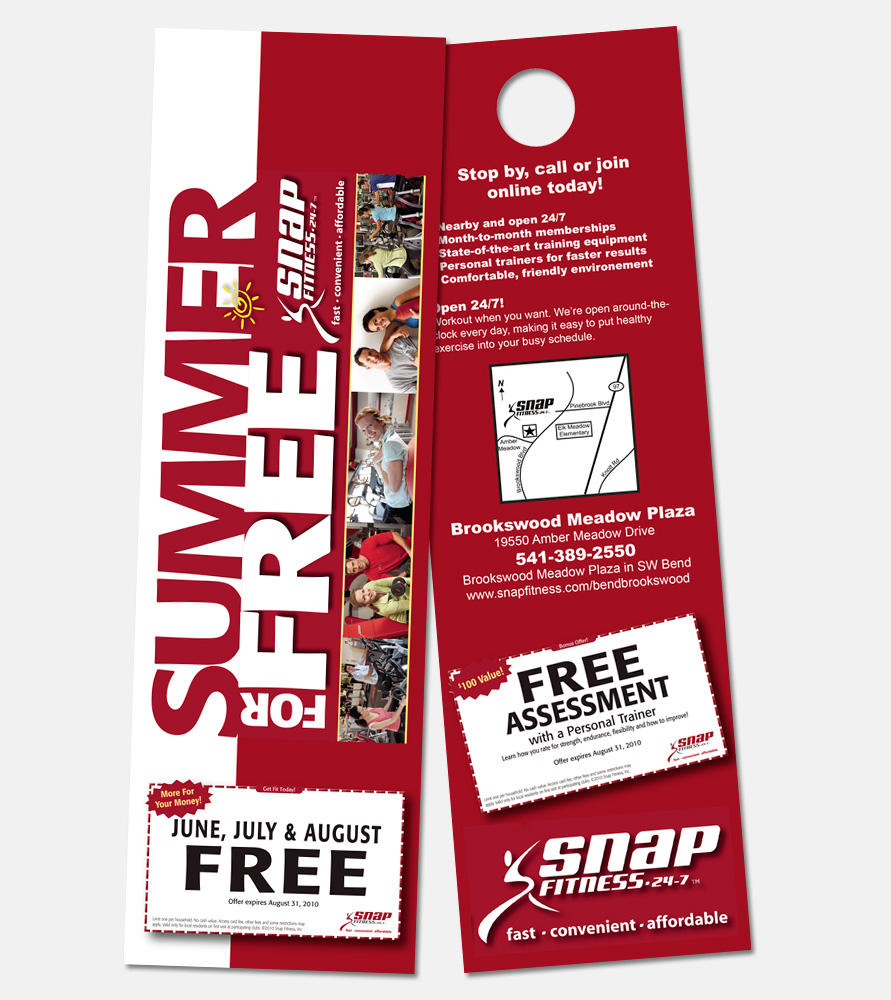 Print: Door Hangers for Snap Fitness by Cameron Kaseberg
