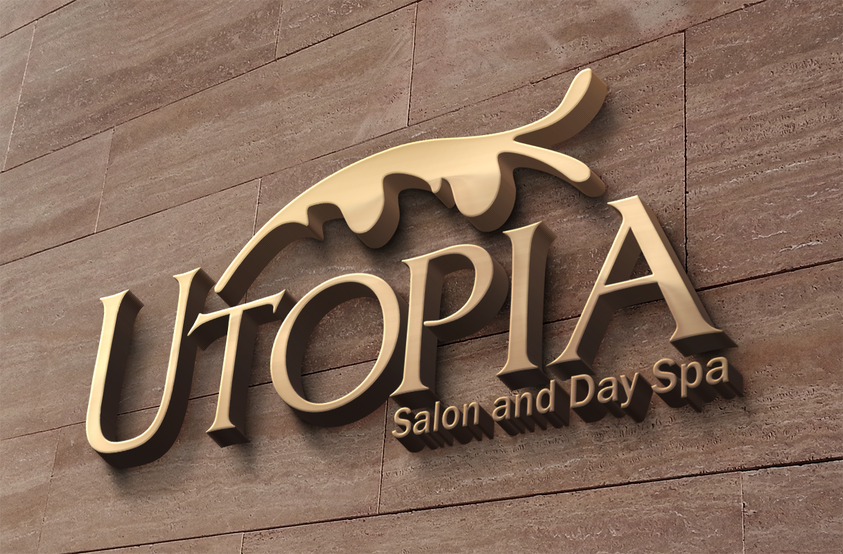 Logo: Logo design for Utopia Salon by Cameron Kaseberg (image mockup)