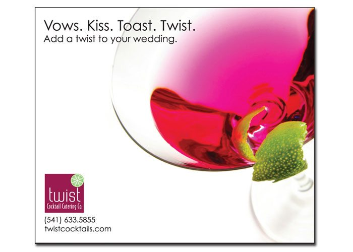 Print: Print advertisement for Twist Cocktails by Cameron Kaseberg.