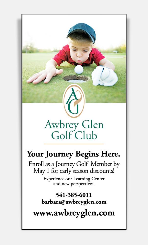 Print: Print advertisement for Awbrey Glen Golf Club by Cameron Kaseberg