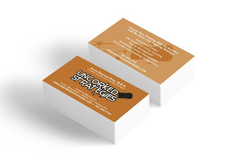 Business card design for Uncorked Strategies – by Kaseberg Design.