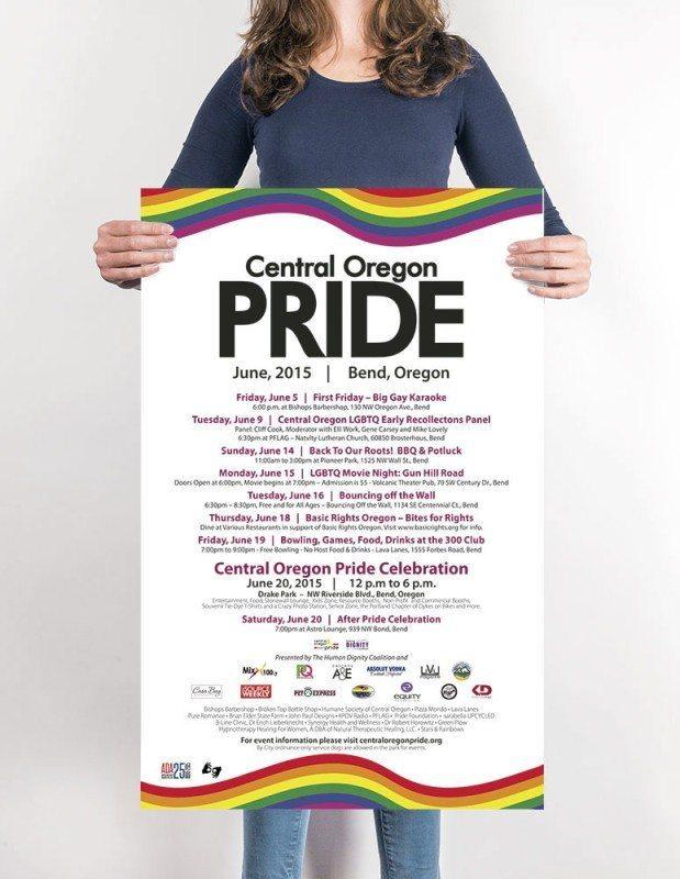Print Design – Poster for Central Oregon Pride in Bend, Oregon – by Kaseberg Design