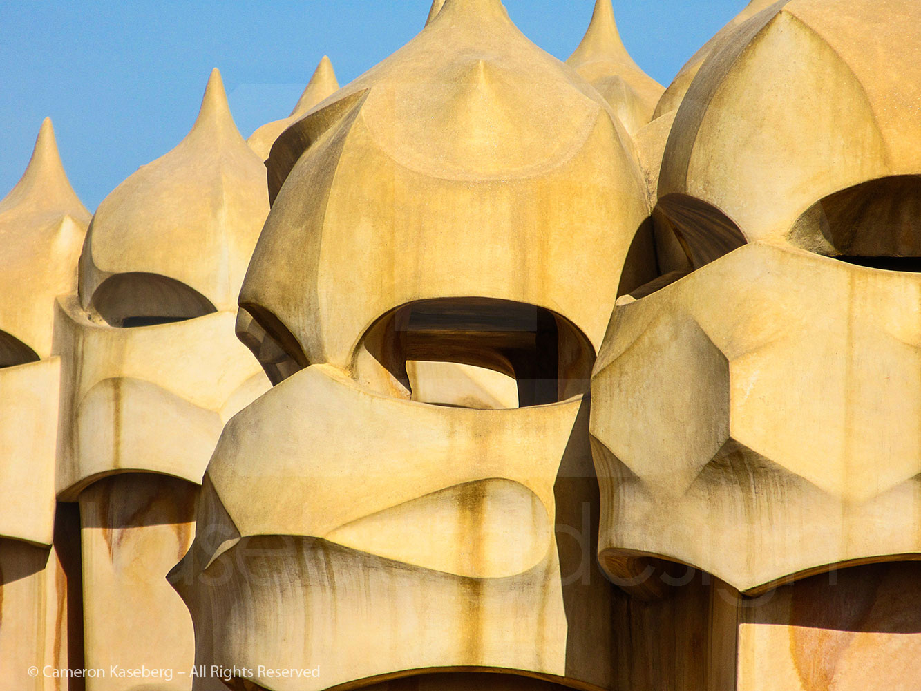 Photo: Gaudi Chimneys at Casa Mila by Cameron Kaseberg