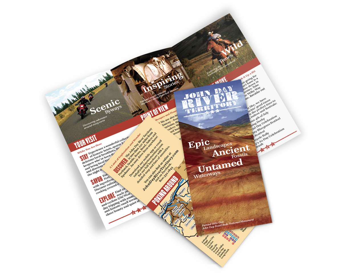 Print: Brochure for John Day River Territory by Cameron Kaseberg