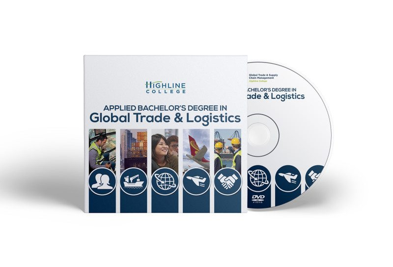 Graphics: DVD packaging and label for Highline College by Cameron Kaseberg