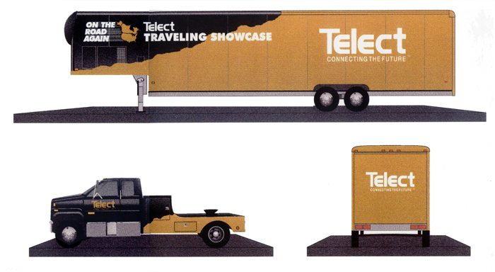 Telect Traveling Showcase Truck Paint Design - All West Display