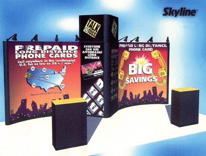 Talk n Toss Exhibit Rendering - Skyline Displays