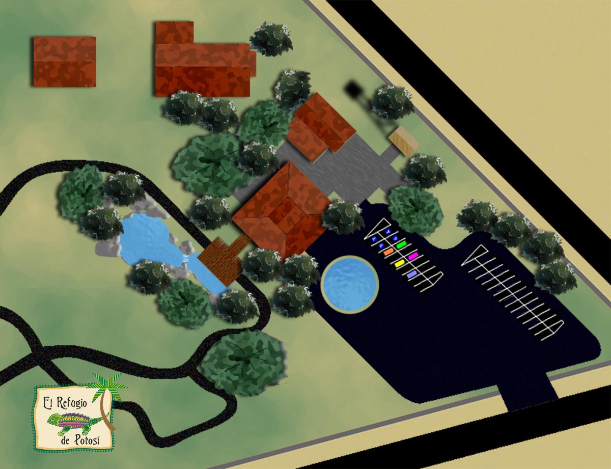 Rendering Concept for El Refugio de Potosi Park Map